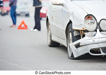 road crash collision in urban street - crash accident on...