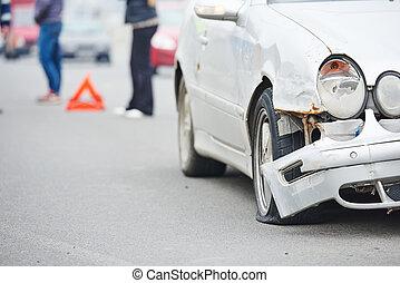 road crash collision in urban street - crash accident on...