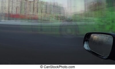 Time lapse from the driver's window
