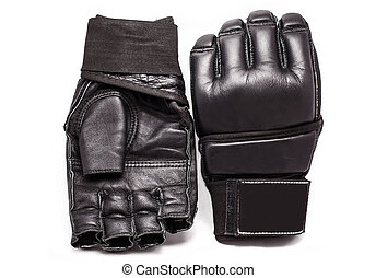 Gloves for MMA on a white background