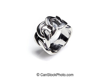 Silver male ring