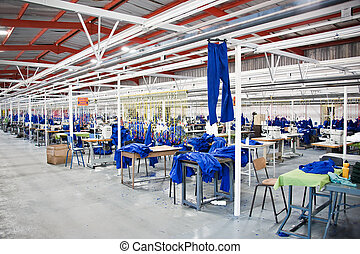 Industrial textile factory - Industrial size textile factory...