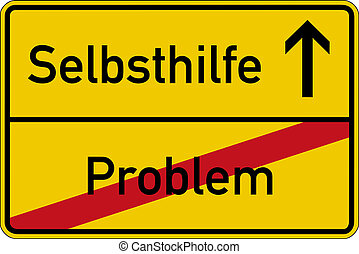 Problem and self help - The German words for problem and...