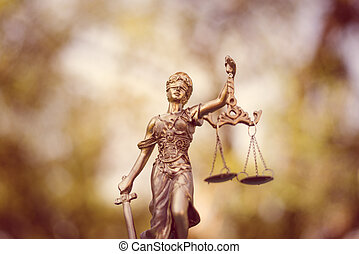 Lady Justice - sculpture of themis, femida or justice...
