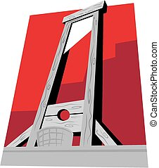 Guillotine - A low angle illustration of a typical...