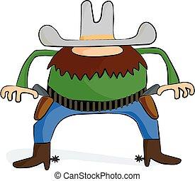 Gunslinger - A cartoon image of a wild west gunslinger.