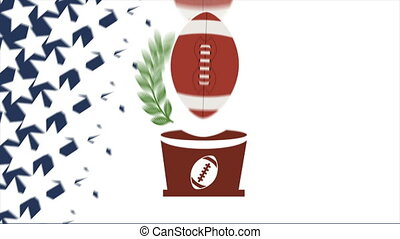 Football Video animation - American football ball, Video...