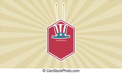 USA Video animation - Usa flag label, Video animation, HD...