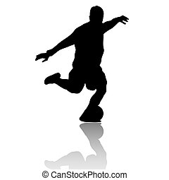 Football player-Soccer player - A illustration of Black...