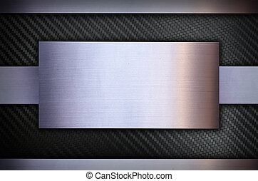 Carbon fiber and Stainless steel metal texture background