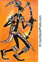 africaine, archer