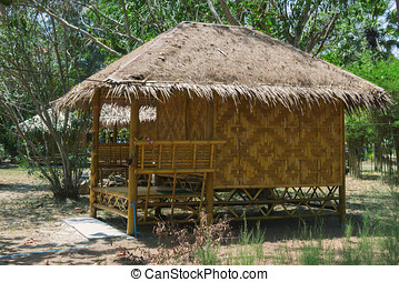 Bamboo bungalows in Thailand