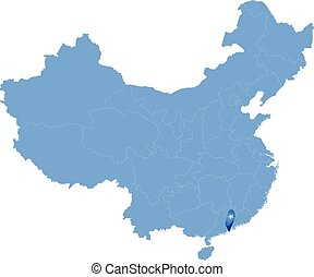 Map of People's Republic of China - Macau