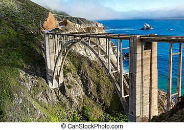 Bixby Bridge - Historic Bixby Bridge, California coast