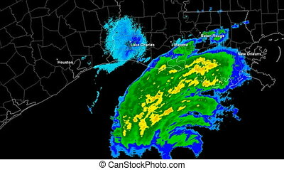 Hurricane Rita (2005) Landfall Time - Hurricane Rita Doppler...