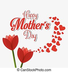 Happy mothers day card design - Happy mothers day card...