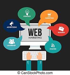 Marketing design. - Marketing design over black background,...