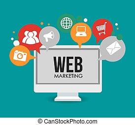 Marketing design. - Marketing design over blue background,...