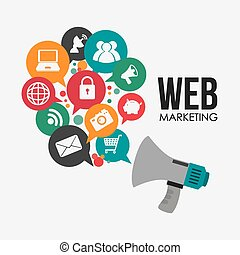 Marketing design - Marketing design over white background,...