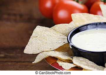 Bowl of Queso Blanco White Cheese Sauce - Queso Blanco or...