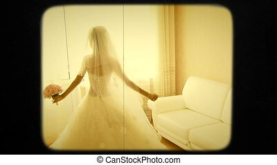 Young Bride Spinning In The Room