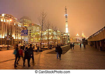 Shanghai - The Bund or Waitan - SHANGHAI, CN - MAR 16...