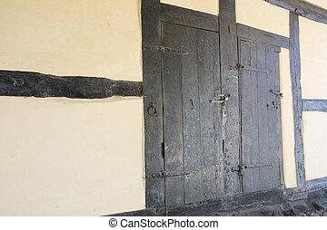 black door - Black door in a passage in Rudkøbing, Denmark