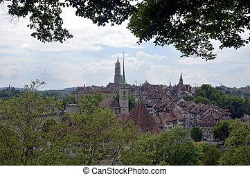 vista, de, Berne, ,