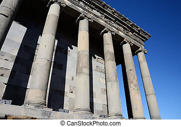 Colonnade of Garni temple,dedicated to sun god Mithra