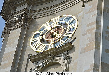 Saint Gallen church clock tower