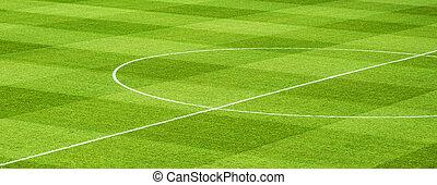 Soccer Fiels - Green soccer field detail