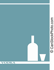 vodka bottle glass deign menu background - A vodka bottle...