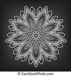 Vector vintage circle pattern in Victorian style. Ornate...