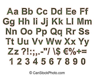 Arial Black Alphabet stylized to electronic board - TGA file...