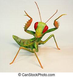 mantis - praying mantis with red eyes