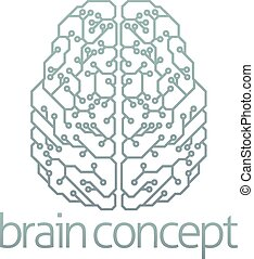 Brain computer circuit design - An abstract illustration of...