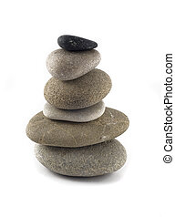 Balanced stone stack or tower