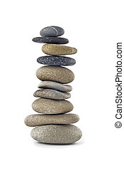 Balanced stone stack or tower isolated