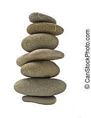 Balanced stone tower or stack isolated
