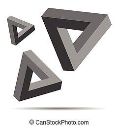 Triangle Optical Illusion - Illustration of Triangle Optical...