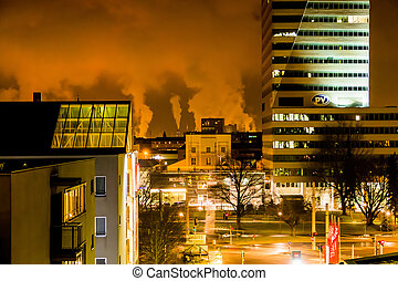 industrial chimneys in linz - smoking industrial chimneys in...
