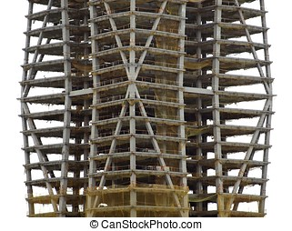Major Construction Site - A detail view of a modern large...