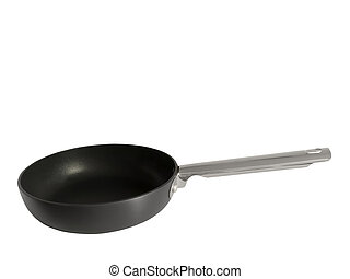Non-stick frying pan isolated on white background