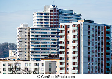 austria, linz, residential buildings - residential buildings...