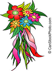 illustration of colorful flowers
