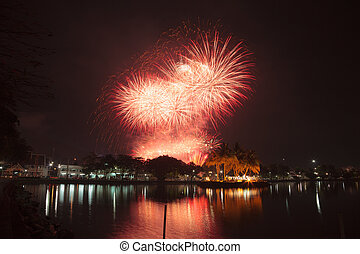 Fireworks Chanthaburi - Fireworks on the closing date of the...