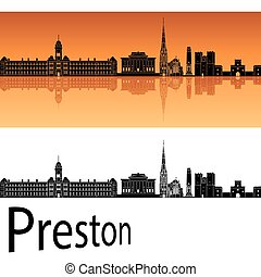Preston skyline in orange background