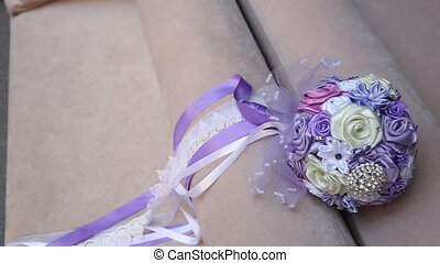wedding bouquet - wedding bridal bouquet brooch style