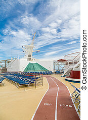 Walk Jog Track on Cruise Ship - Walking and Jogging trail on...