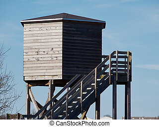 Bird watching tower - Bird watching birding wildlife...